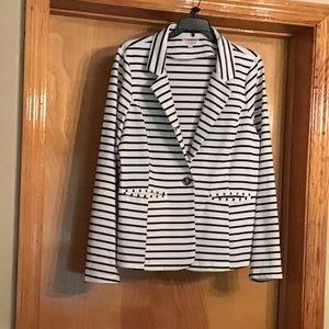 Women's striped dressy jacket!